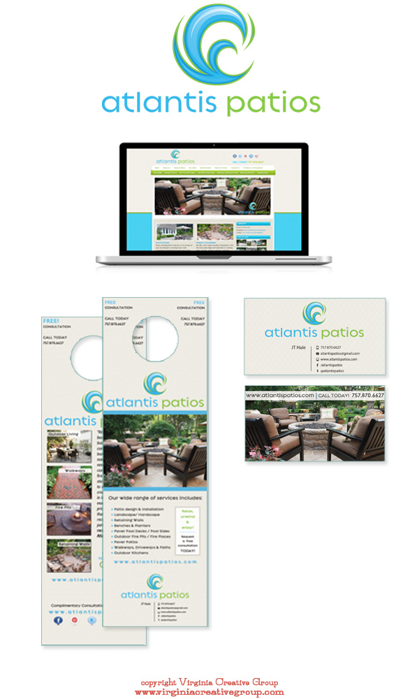 patio design website design and print collateral services