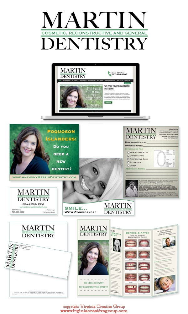 dental practice website design and print collateral services