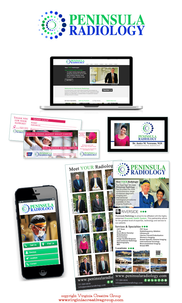medical practice website design and print collateral services