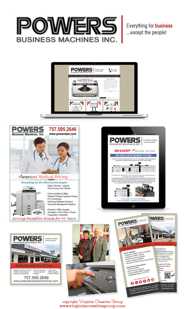 corporate website design and print collateral services