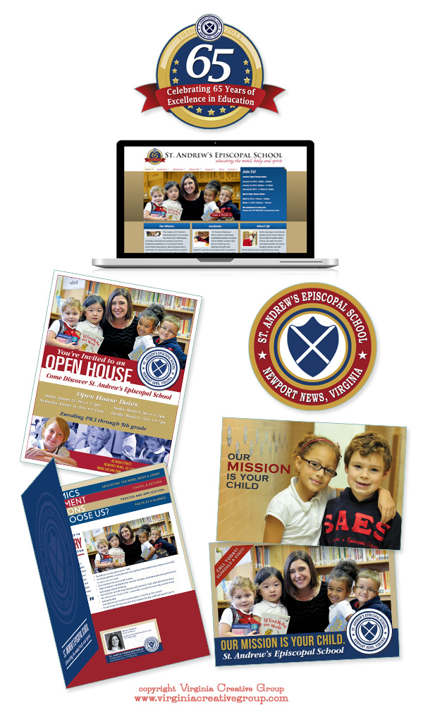 school website design and print collateral services