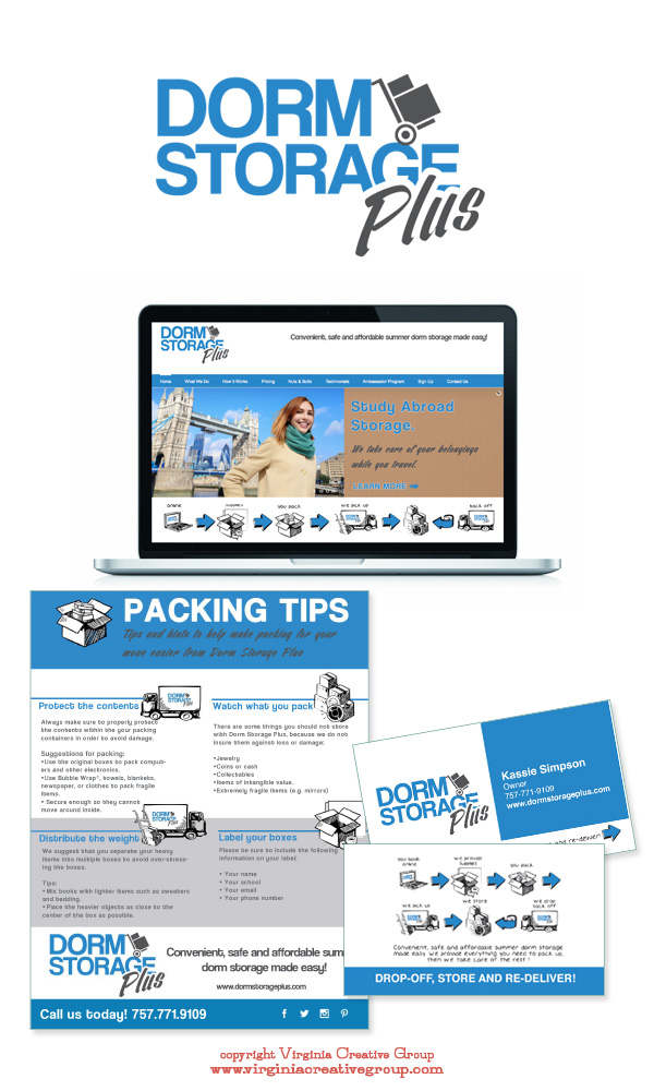 storage facility website design and print collateral services