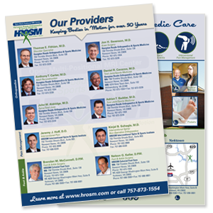 orthopedic print collateral services
