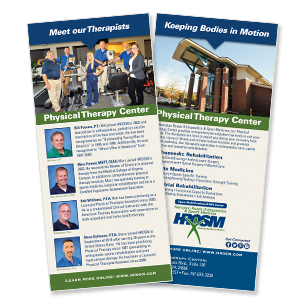 orthopedic practice print collateral