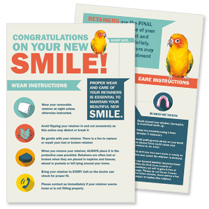 orthodontic practice infographic and print collateral services
