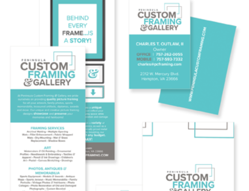 Peninsula Custom Framing Branding