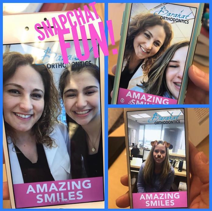 Snapchat filter, barakat orthodontics